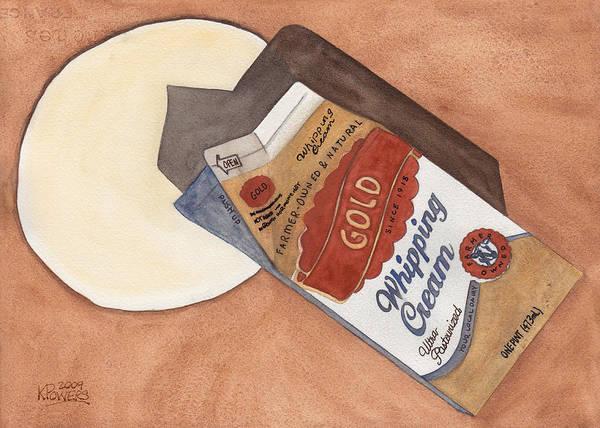 Painting - Spilt Milk by Ken Powers