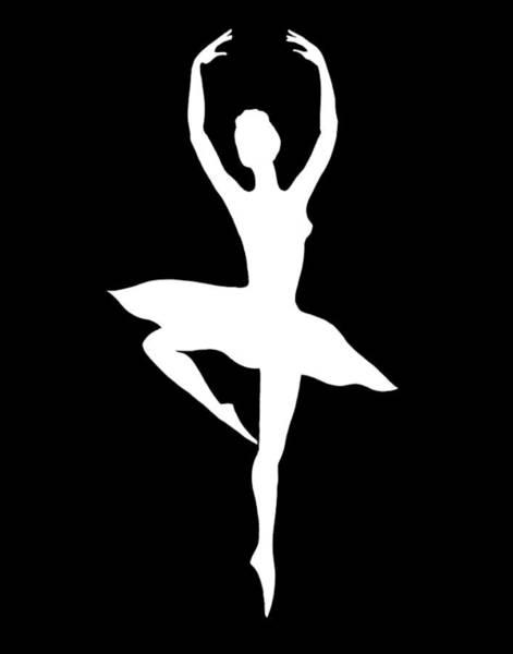 Wall Art - Painting - Spin Of Ballerina Silhouette by Irina Sztukowski