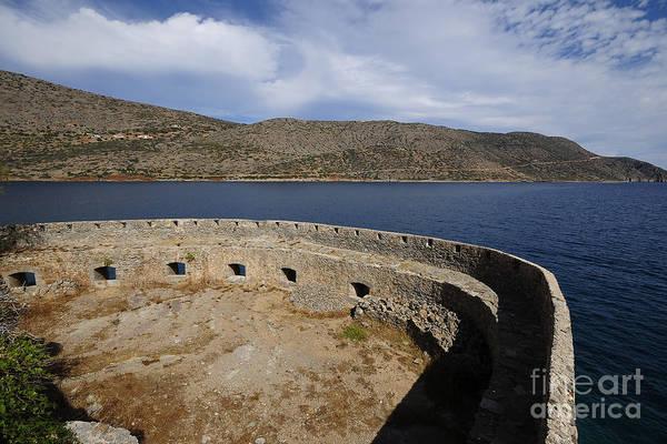 Greek Islands Wall Art - Photograph - Spinalonga by Smart Aviation