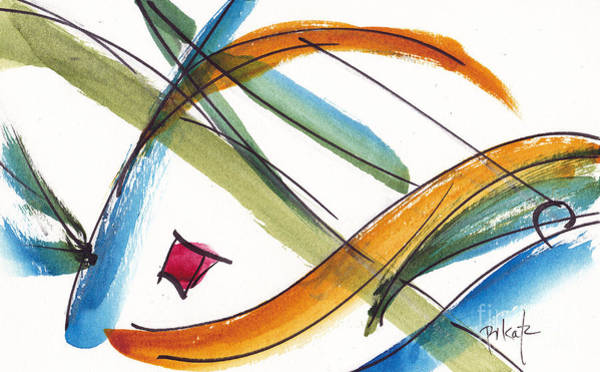 Painting - Spindle Back Abstract #2 by Pat Katz
