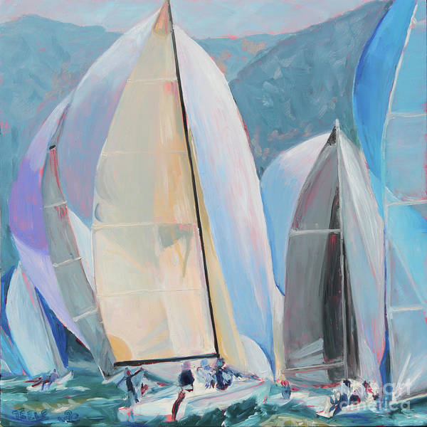 Painting - Spinnakers, Sails, Dreams by Trina Teele