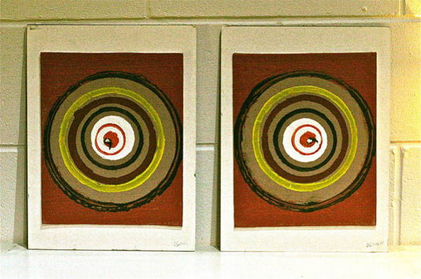 Double Helix Painting - Spinnin' Around Diptych by Steve Swindells