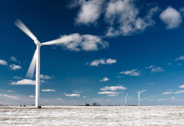 Wind Generator Photograph - Spinning Turbine by Todd Klassy