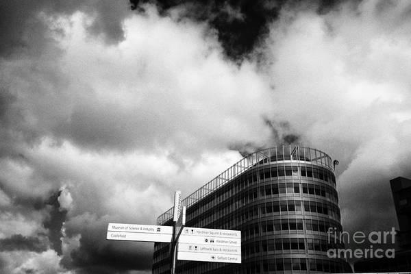 Manchester Skyline Wall Art - Photograph - Spinningfields District Manchester England Uk by Joe Fox