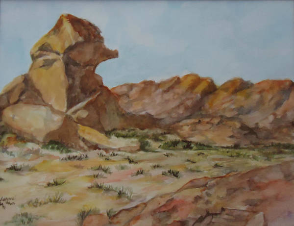 Valley Of Fire Painting - Spinx In The Valley Of Fire by Charme Curtin
