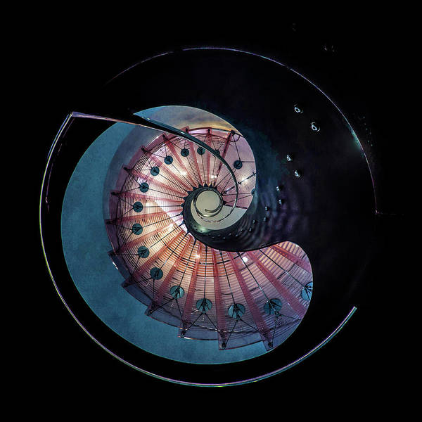 Wall Art - Photograph - Spiral Glass Staircase by Jaroslaw Blaminsky