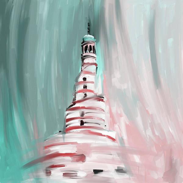 Wall Art - Painting - Spiral Minaret 675 2 by Mawra Tahreem