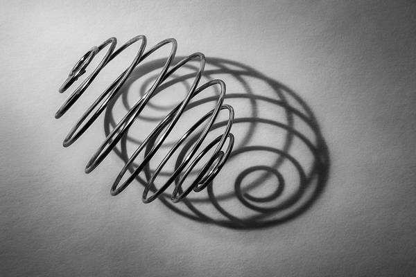 Black And White Abstract Photograph - Spiral Shape And Form by Scott Norris