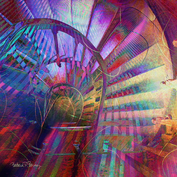 Digital Art - Spiral Staircase by Barbara Berney