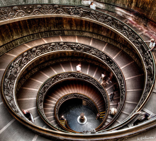 Weston Photograph - Spiral Staircase No1 by Weston Westmoreland