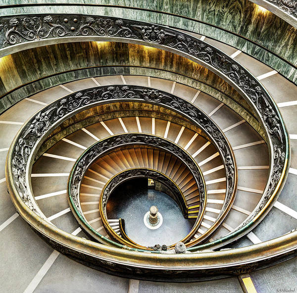 Photograph - Spiral Staircase Revisited - Square Version by Weston Westmoreland