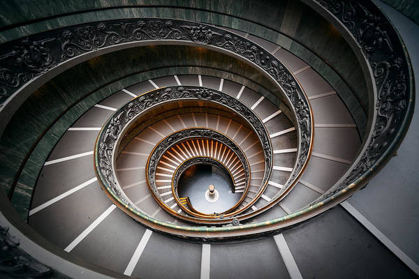 Photograph - Spiral Staircase by Songquan Deng