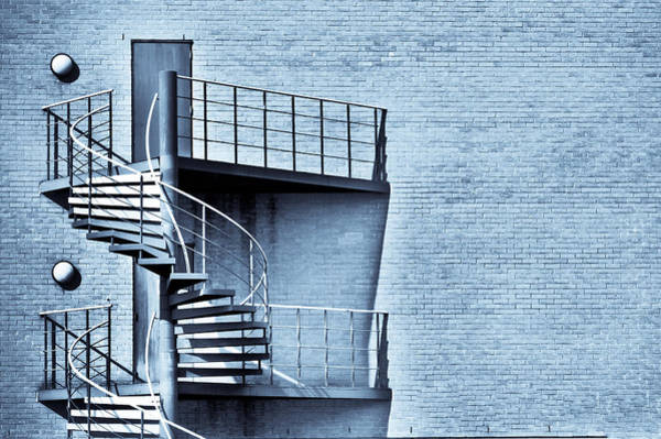 Fire Place Photograph - Spiral Stairs by Tom Gowanlock