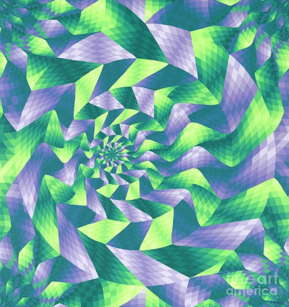 Doreen Mason Wall Art - Painting - Spiral Unfolding by Ellison Design