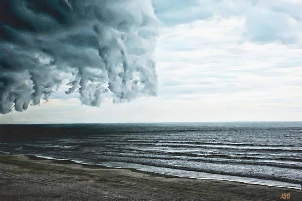 Photograph - Spiraling Storm Clouds Over Daytona Beach, Florida by Gina O'Brien