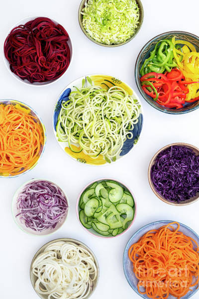 Photograph - Spiralized Vegetables Pattern by Tim Gainey