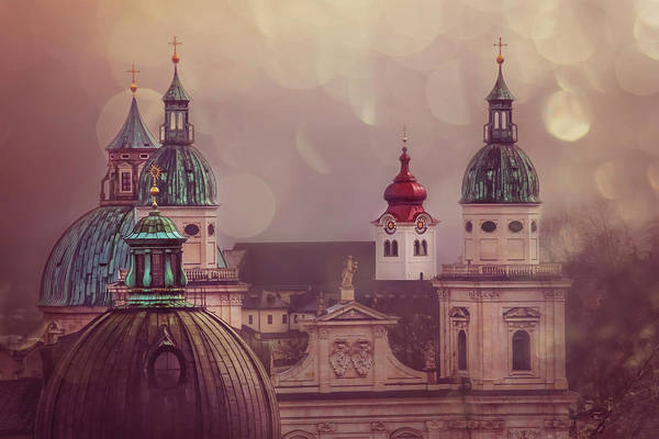 Baroque Photograph - Spires Of Salzburg  by Carol Japp