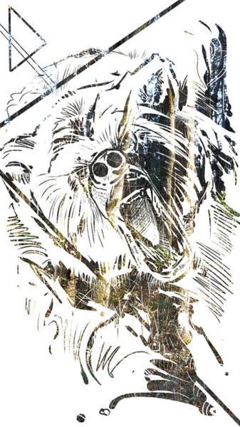 Painting - Spirit Animal . Bear by John Jr Gholson