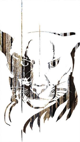 Painting - Spirit Animal . Cougar by John Jr Gholson