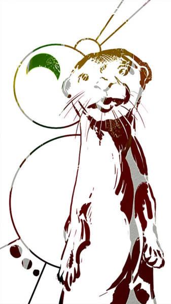 Painting - Spirit Animal . Otter by John Jr Gholson
