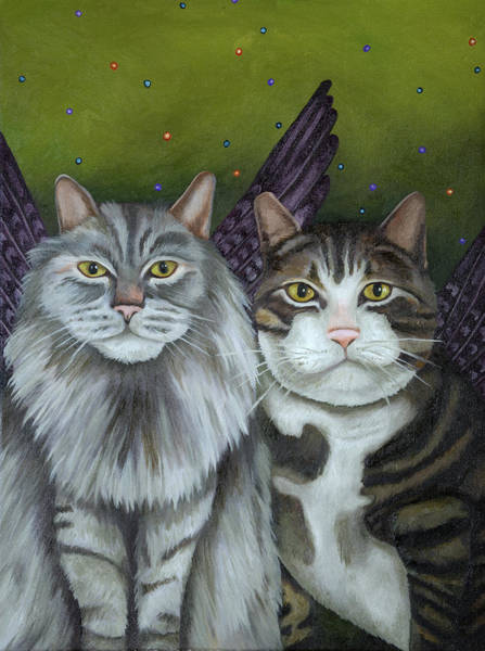 Painting - Spirit Animals by Leah Saulnier The Painting Maniac