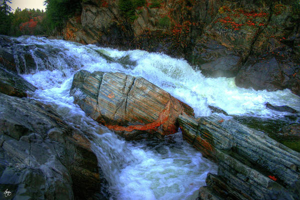 Photograph - Spirit Boulder At Livermore Falls by Wayne King