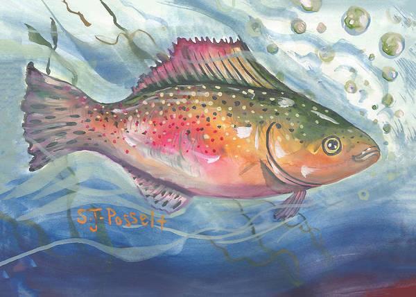 Painting - Spirit Fish No. 1 by Sheri Jo Posselt
