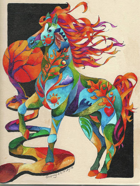 Painting - Spirit Horse Totem by Sherry Shipley