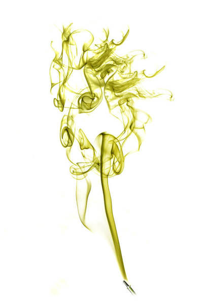 Photograph - Ghostly Smoke - Yellow by Nick Bywater