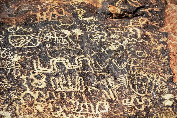 Photograph - Spirit Mountain Petroglyphs Lake Mead National Park by Kyle Hanson