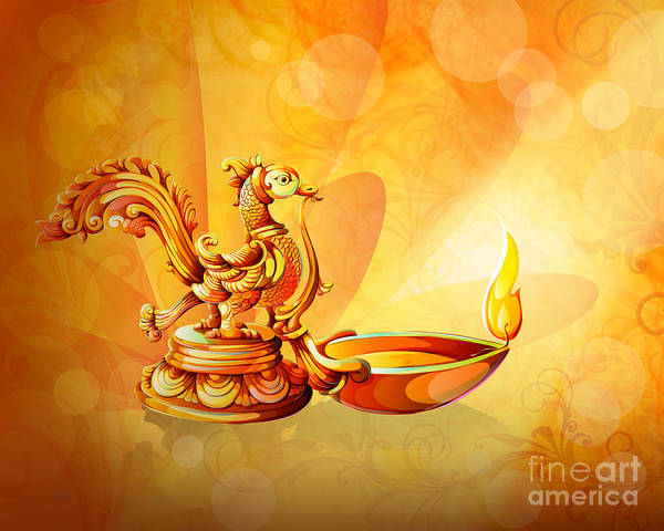 Wall Art - Digital Art - Spirit Of Diwali by Peter Awax