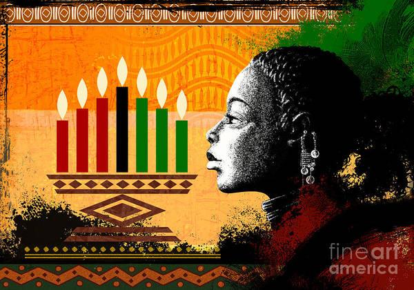 Wall Art - Digital Art - Spirit Of Kwanzaa by Peter Awax