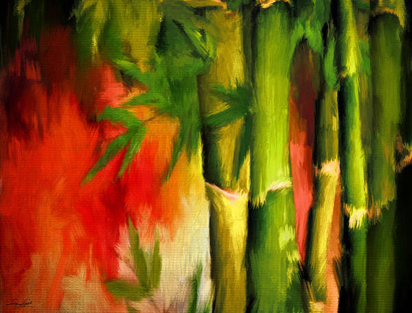 Tropical Garden Painting - Spirit Of Summer- Bamboo Artwork by Lourry Legarde