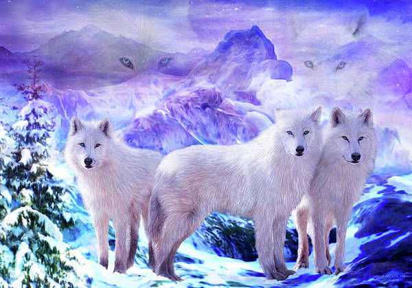 Mixed Media - Spirit Of The Arctic Wolf by Carol Cavalaris