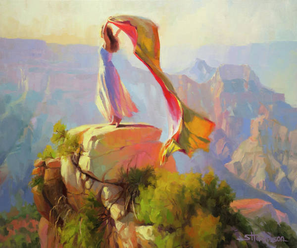 Worship Wall Art - Painting - Spirit Of The Canyon by Steve Henderson