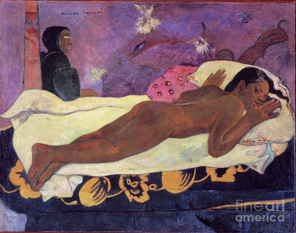 Sleepless Painting - Spirit Of The Dead Watching 1892  By Paul Gauguin by Art Anthology