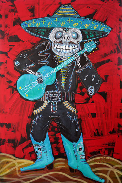 Wall Art - Painting - Spirit Of The Mariachi by Laura Barbosa