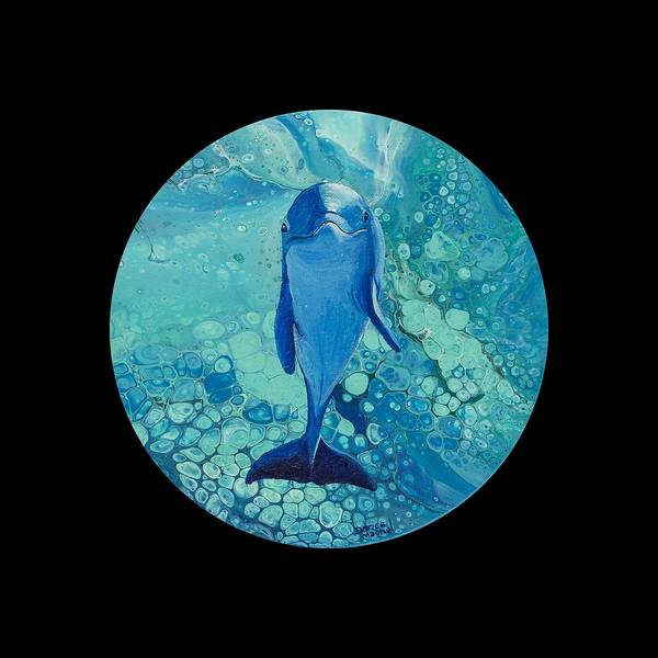 Painting - Spirit Of The Ocean On Black by Darice Machel McGuire
