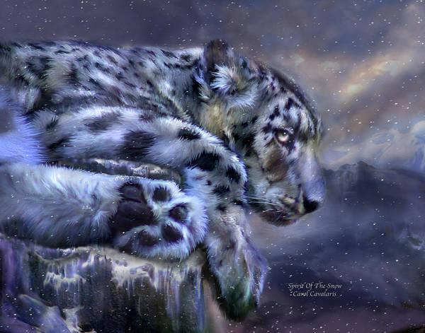 Mixed Media - Spirit Of The Snow by Carol Cavalaris