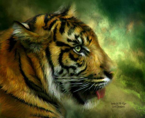 Mixed Media - Spirit Of The Tiger by Carol Cavalaris