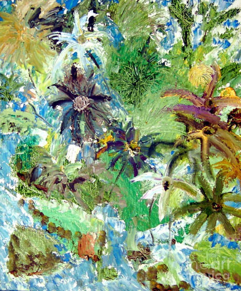 Painting - Spirits Of My Palette Tropical Dreams by Santiago Chavez