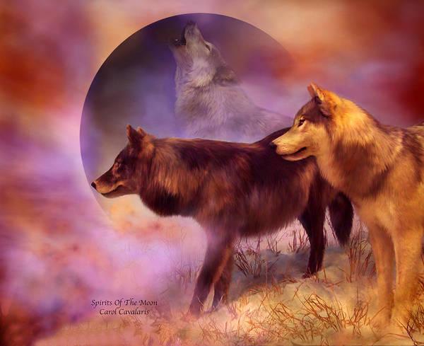 Mixed Media - Spirits Of The Moon by Carol Cavalaris