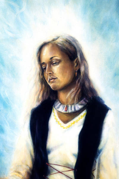 Emanate Painting - Spiritual Painting Middle Woman  by Jozef Klopacka