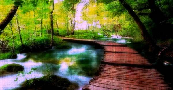 Digital Art - Spiritual Walk by Digital Art Cafe