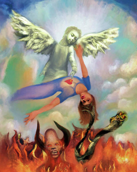 Spiritual Warfare Painting - Spiritual Warfare Of Heart And Mind by Susanna Katherine