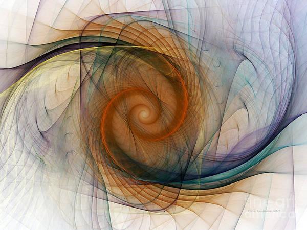 Wall Art - Digital Art - Spirograph Spiral by Karin Kuhlmann