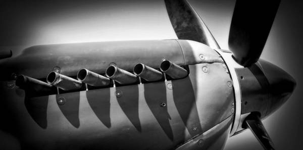 Wall Art - Photograph - Spitfire Cowling by Daniel Hagerman
