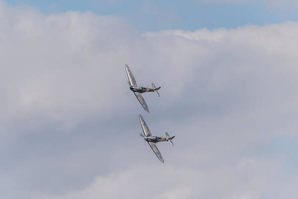 Photograph - Spitfire Formation Pair by Gary Eason