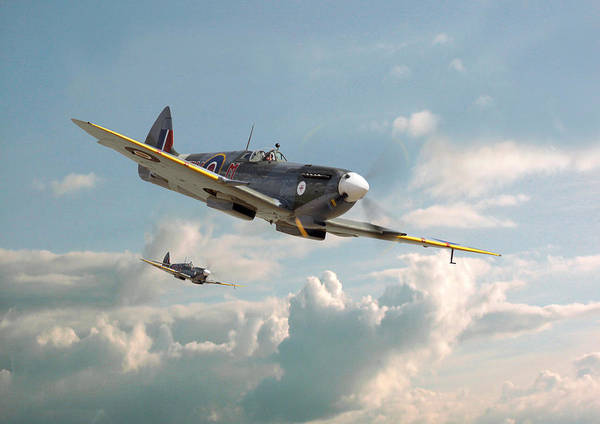 Spitfire Photograph - Spitfire - 'high In The Sunlit Silence' by Pat Speirs