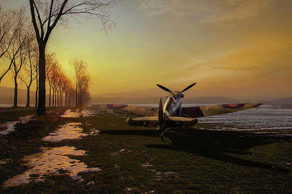 Photograph - Spitfire In Winter by Gary Eason